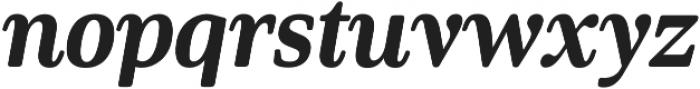 Solitas Serif Cond ExBold It otf (700) Font LOWERCASE