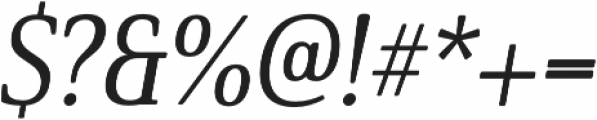 Solitas Serif Cond Medium It otf (500) Font OTHER CHARS