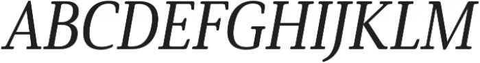 Solitas Serif Cond Medium It otf (500) Font UPPERCASE