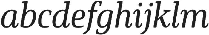 Solitas Serif Cond Medium It otf (500) Font LOWERCASE