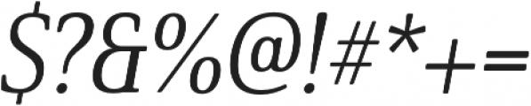 Solitas Serif Cond Regular It otf (400) Font OTHER CHARS