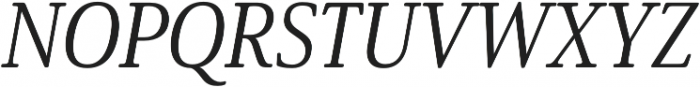 Solitas Serif Cond Regular It otf (400) Font UPPERCASE