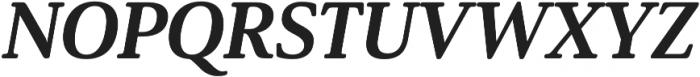 Solitas Serif Ext ExBold It otf (700) Font UPPERCASE