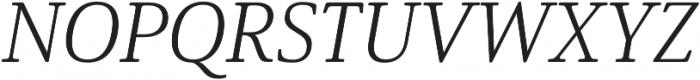 Solitas Serif Ext Light It otf (300) Font UPPERCASE