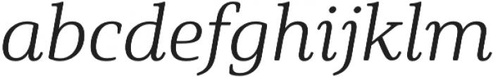 Solitas Serif Ext Light It otf (300) Font LOWERCASE