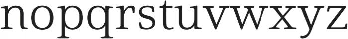 Solitas Serif Ext Light otf (300) Font LOWERCASE