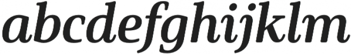 Solitas Serif Norm Bold It otf (700) Font LOWERCASE
