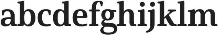 Solitas Serif Norm Bold otf (700) Font LOWERCASE