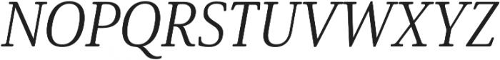 Solitas Serif Norm Book It otf (400) Font UPPERCASE
