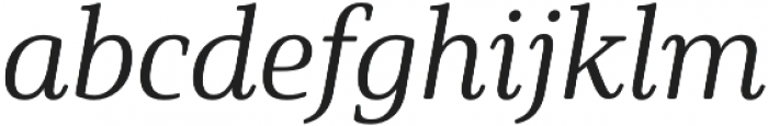 Solitas Serif Norm Book It otf (400) Font LOWERCASE