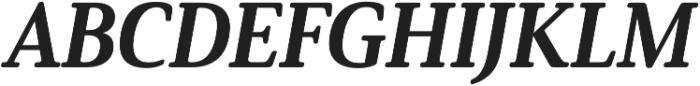 Solitas Serif Norm ExBold It otf (700) Font UPPERCASE