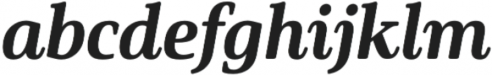 Solitas Serif Norm ExBold It otf (700) Font LOWERCASE