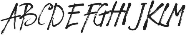 Solmet Brush otf (400) Font UPPERCASE
