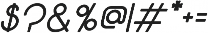Solo Italic otf (700) Font OTHER CHARS
