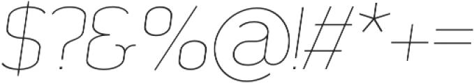 SomaSlab Light Slanted otf (300) Font OTHER CHARS