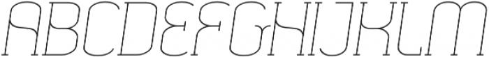 SomaSlab Light Slanted otf (300) Font UPPERCASE