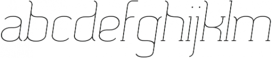 SomaSlab Light Slanted otf (300) Font LOWERCASE