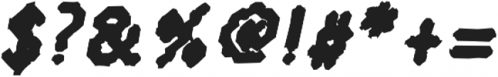 Somatica BoldOblique otf (700) Font OTHER CHARS