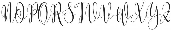 Someday otf (400) Font UPPERCASE
