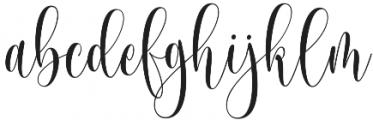 Someday otf (400) Font LOWERCASE