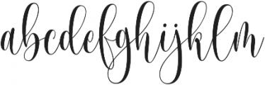 Someday ttf (400) Font LOWERCASE