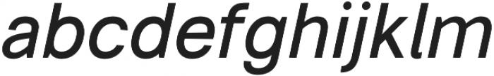 Somma Medium Oblique otf (500) Font LOWERCASE