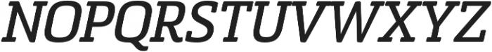 Sommet Slab Rnd Bold Italic otf (700) Font UPPERCASE