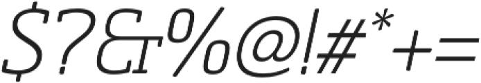 Sommet Slab Rnd Light Italic otf (300) Font OTHER CHARS