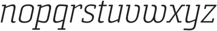 Sommet Slab Rnd Light Italic otf (300) Font LOWERCASE