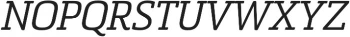 Sommet Slab Rnd Regular Italic otf (400) Font UPPERCASE