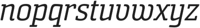 Sommet Slab Rnd Regular Italic otf (400) Font LOWERCASE