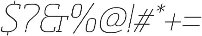 Sommet Slab Rnd Thin Italic otf (100) Font OTHER CHARS