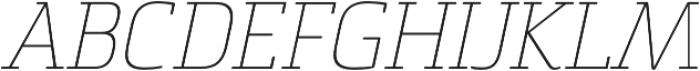 Sommet Slab Rnd Thin Italic otf (100) Font UPPERCASE