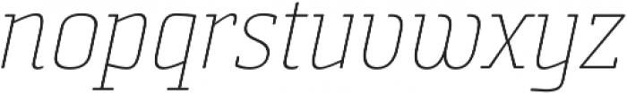 Sommet Slab Rnd Thin Italic otf (100) Font LOWERCASE