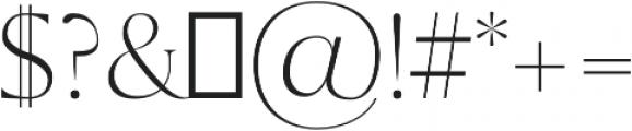 Sondra Light otf (300) Font OTHER CHARS