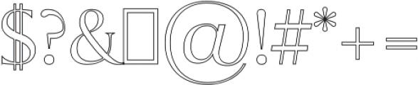 Sondra Outline otf (400) Font OTHER CHARS