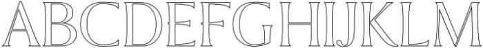 Sondra Outline otf (400) Font UPPERCASE