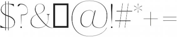 Sondra Thin otf (100) Font OTHER CHARS