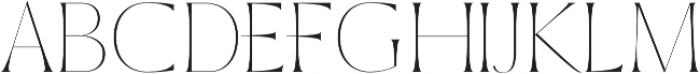 Sondra Thin otf (100) Font UPPERCASE