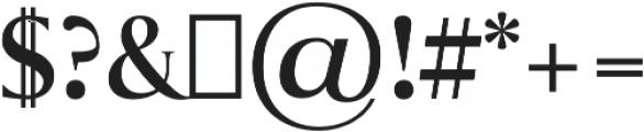 Sondra otf (700) Font OTHER CHARS