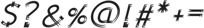 Sonif Farm Brush Italic otf (400) Font OTHER CHARS