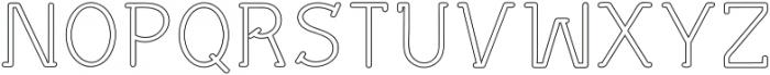Sonif Line Regular otf (400) Font UPPERCASE