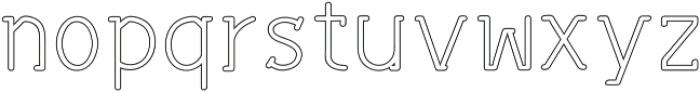 Sonif Line Regular otf (400) Font LOWERCASE