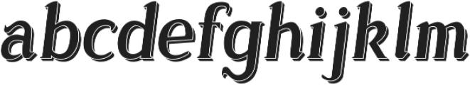 Sonten 3D ttf (400) Font LOWERCASE