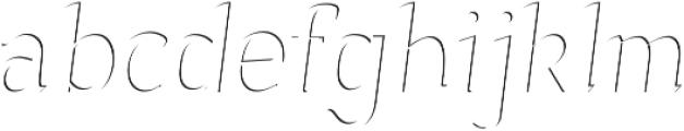 Sonten-Highlight Layer ttf (300) Font LOWERCASE
