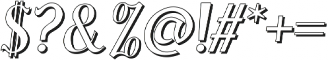 Sonten Outline ttf (400) Font OTHER CHARS