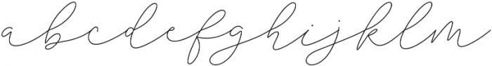 Sophia Christie Regular otf (400) Font LOWERCASE