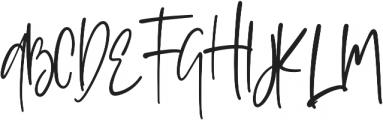 Sophisticated Signature otf (400) Font UPPERCASE