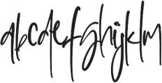 Sophisticated Signature otf (400) Font LOWERCASE