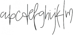 SophisticatedOutfit otf (400) Font LOWERCASE